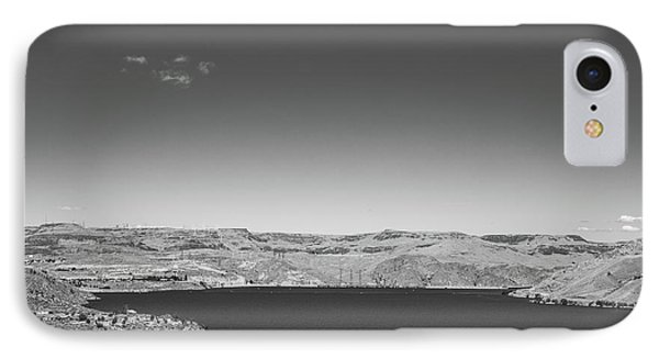 Black And White Landscape Photo Of Dry Glacia Ancian Rock Desert IPhone Case by Jingjits Photography