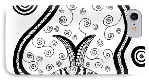 Black And White Life IPhone Case by Jill Lenzmeier