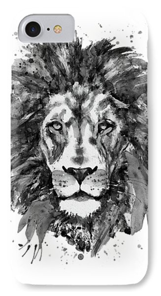 Black And White Lion Head  IPhone Case