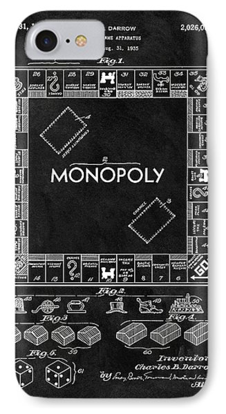 Black And White Monopoly Game Patent IPhone Case