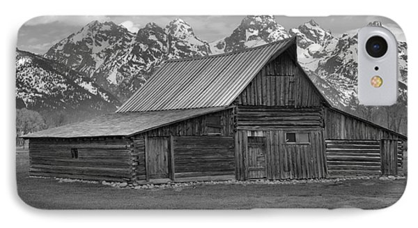 Black And White Mormon Row Barn IPhone Case by Adam Jewell