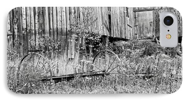 Black And White Old Barn In Maine IPhone Case by Keith Webber Jr