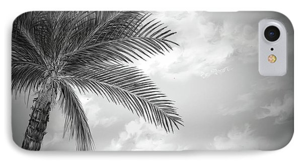 IPhone Case featuring the digital art Black And White Palm by Darren Cannell