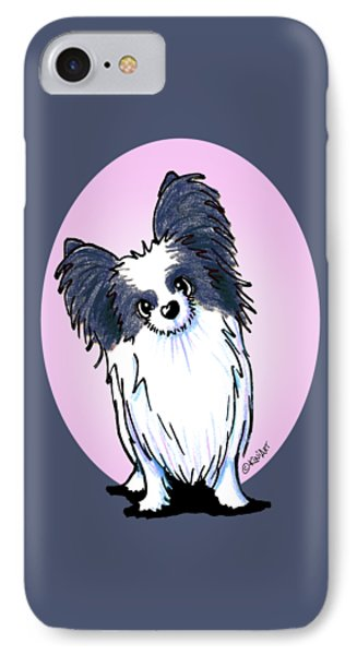 Black And White Papillon Phone Case by Kim Niles
