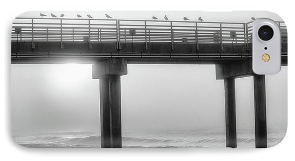 IPhone Case featuring the photograph Black And White Pier Alabama  by John McGraw