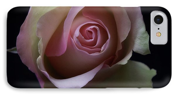 IPhone Case featuring the photograph Black And White Pink Flowers Roses Macro Photography Art Work by Artecco Fine Art Photography