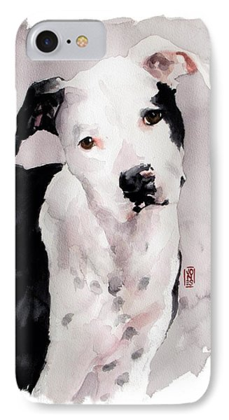 Black And White Pit Phone Case by Debra Jones