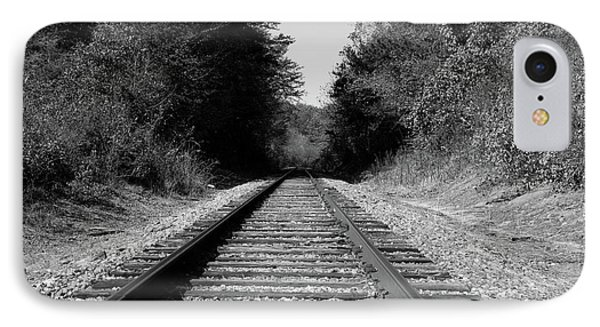 Black And White Railroad IPhone Case by Michael Waters