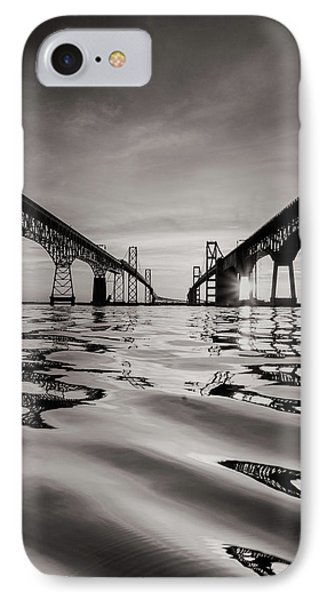 IPhone Case featuring the photograph Black And White Reflections by Jennifer Casey