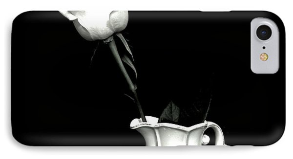 IPhone Case featuring the photograph Black And White Rose Three by Marsha Heiken