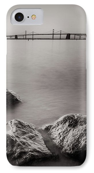 IPhone Case featuring the photograph Black And White Sandy Point by Jennifer Casey