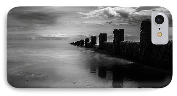 Black And White Seascape IPhone Case by Martin Newman