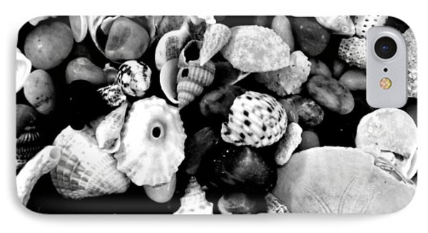 Black And White Seashells Phone Case by Kimberly Perry
