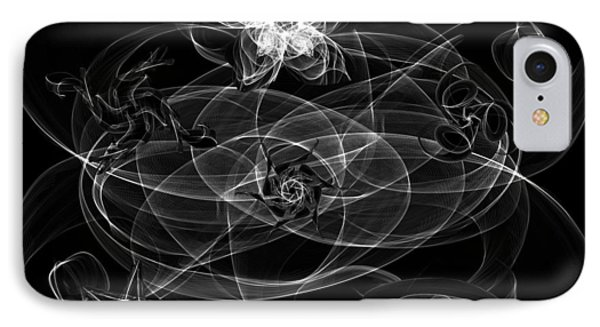 Black And White Sigil Magick IPhone Case by Abstract Angel Artist Stephen K