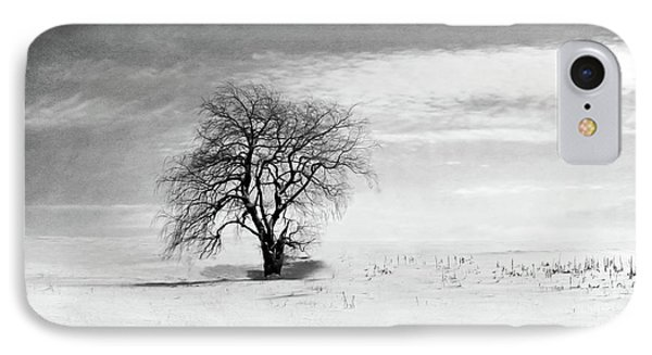 Black And White Tree In Winter IPhone Case by Brooke T Ryan