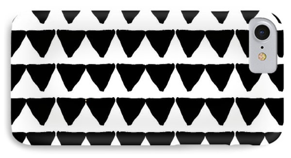 Black And White Triangles- Art By Linda Woods IPhone 7 Case by Linda Woods