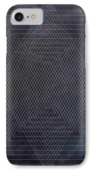 Black And White Triangular Line Art IPhone Case by Brandi Fitzgerald
