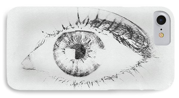 Black And White Woman Eye IPhone Case
