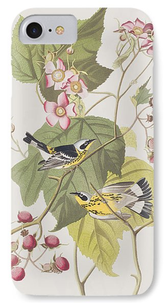 Black And Yellow Warblers IPhone 7 Case by John James Audubon