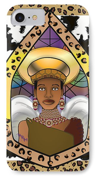 Black Angel Phone Case by Brenda Dulan Moore