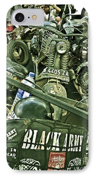 Black Army Phone Case by Charuhas Images