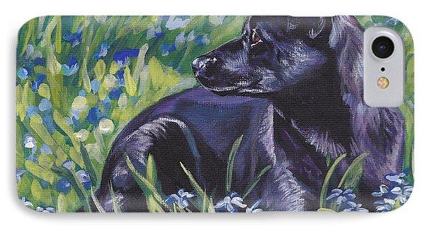 Black Australian Kelpie Phone Case by Lee Ann Shepard