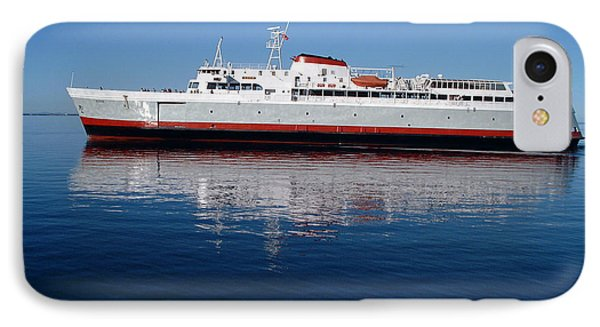 IPhone Case featuring the photograph Black Ball Ferry by Larry Keahey