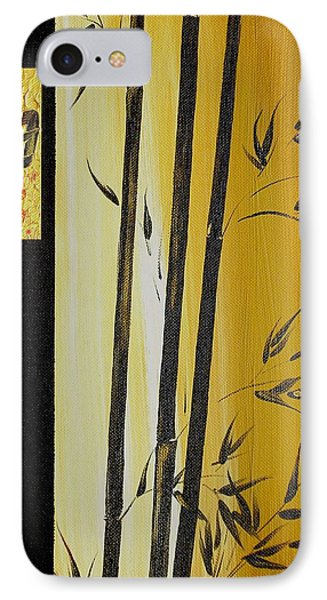 IPhone Case featuring the painting Black Bamboo Zen  by Dina Dargo