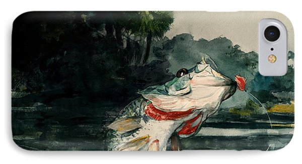 IPhone Case featuring the painting Black Bass by Pg Reproductions