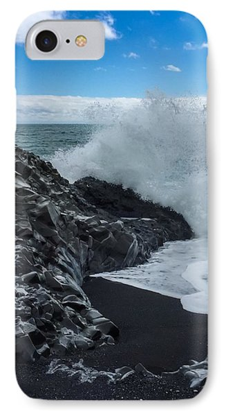 IPhone Case featuring the photograph Black Beach In Iceland by Chris Feichtner
