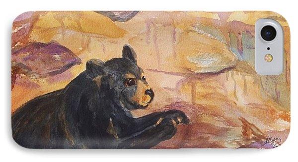 Black Bear Cub IPhone Case by Ellen Levinson