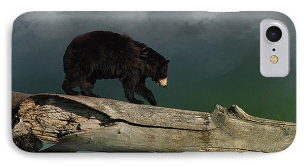 Black Bear IPhone Case by Art Spectrum