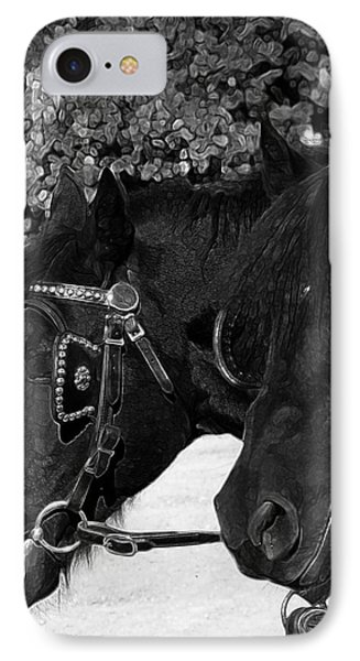 IPhone Case featuring the photograph Black Beauties by Stuart Turnbull