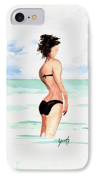 Black Bikini IPhone Case by Sam Sidders
