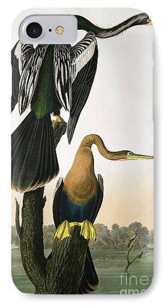 Black Billed Darter IPhone Case by John James Audubon