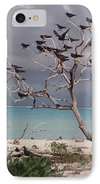 IPhone Case featuring the photograph Black Birds by Mary-Lee Sanders