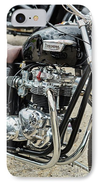 IPhone Case featuring the photograph Black Bonneville by Tim Gainey