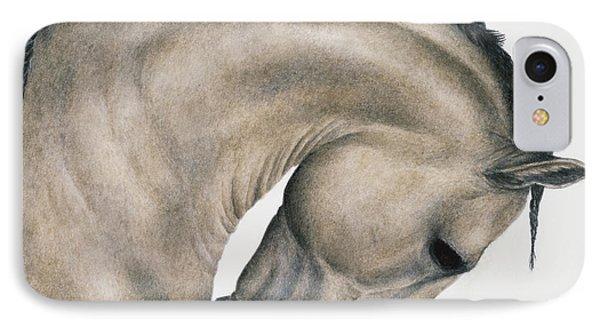 Horse iPhone 7 Case - Black Braid by Pat Erickson
