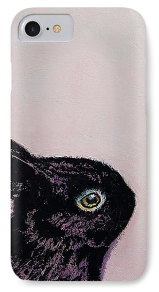 Black Bunny IPhone 7 Case by Michael Creese