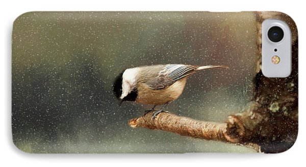 IPhone Case featuring the photograph Black Capped Chickadee by Darren Fisher