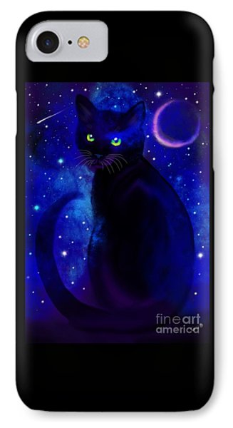 IPhone Case featuring the painting Black Cat Blues  by Nick Gustafson
