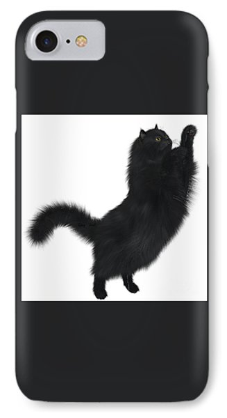 Black Cat Phone Case by Corey Ford