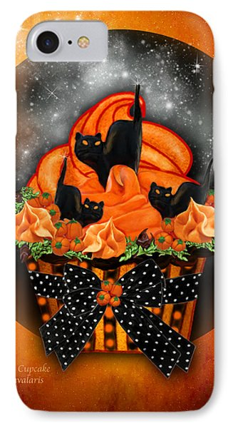 Black Cat Cupcake Phone Case by Carol Cavalaris