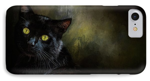 Black Cat Portrait IPhone Case