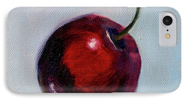 IPhone Case featuring the painting black Cherry by Nancy Merkle