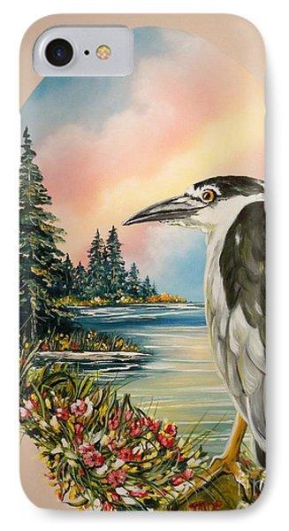 Black Crowned Heron IPhone Case