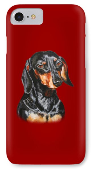 IPhone Case featuring the painting Black Dachshund Accessories by Jimmie Bartlett