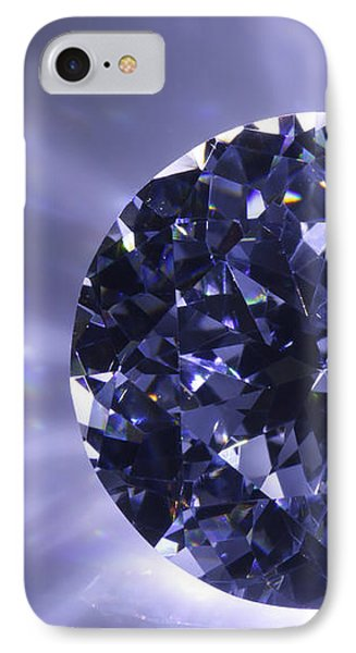 Black Diamond Shine Aura. IPhone Case by Atiketta Sangasaeng