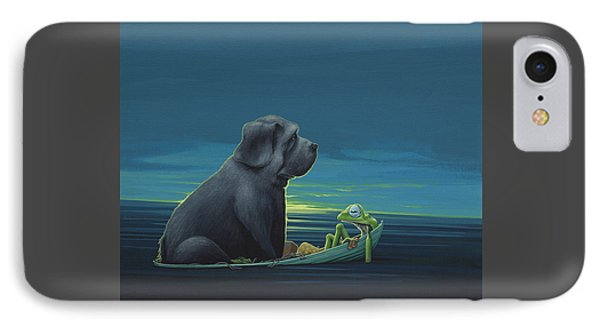 Black Dog IPhone 7 Case by Jasper Oostland