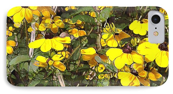 IPhone Case featuring the mixed media Black-eyed Susan by Terence Morrissey